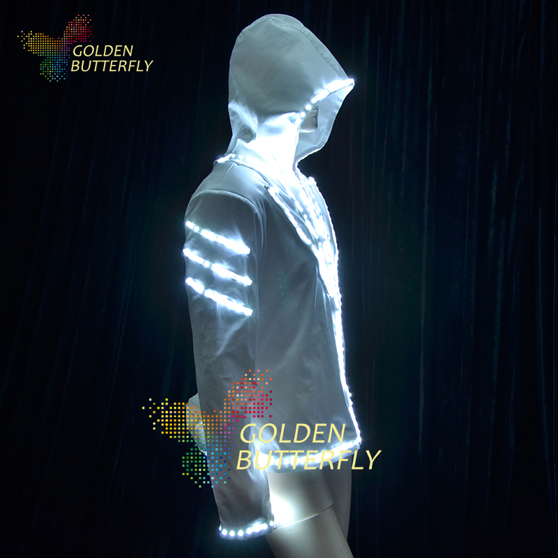 Luminous Costumes  SW2812/2813/5050 LED Hoodies Glowing Dance Luminous Suits Men LED Clothing Party Dance Accessories Одежда и ак�е��уары<br><br><br>Aliexpress