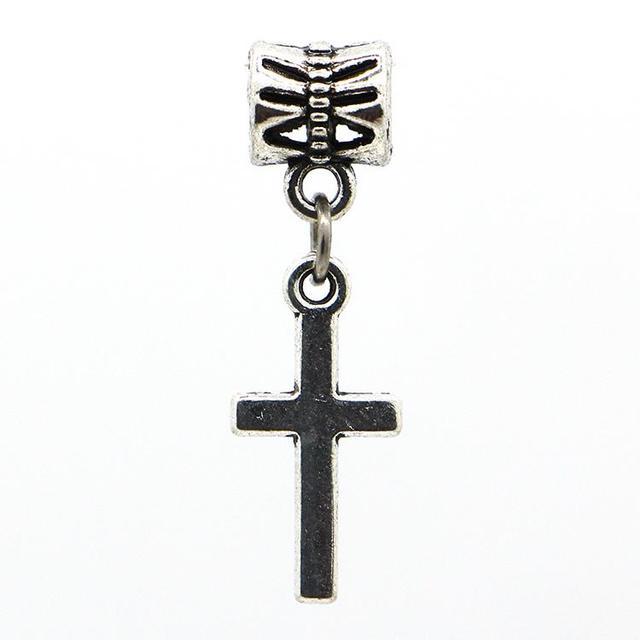 1 шт. бесплатная доставка мода европейский серебряный крест подвески подвеска бусины ...