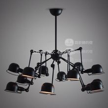 Vintage American industrial  12 light mechanical arm spider chandelier ceiling Lamp restaurants conference room light fixture(China (Mainland))