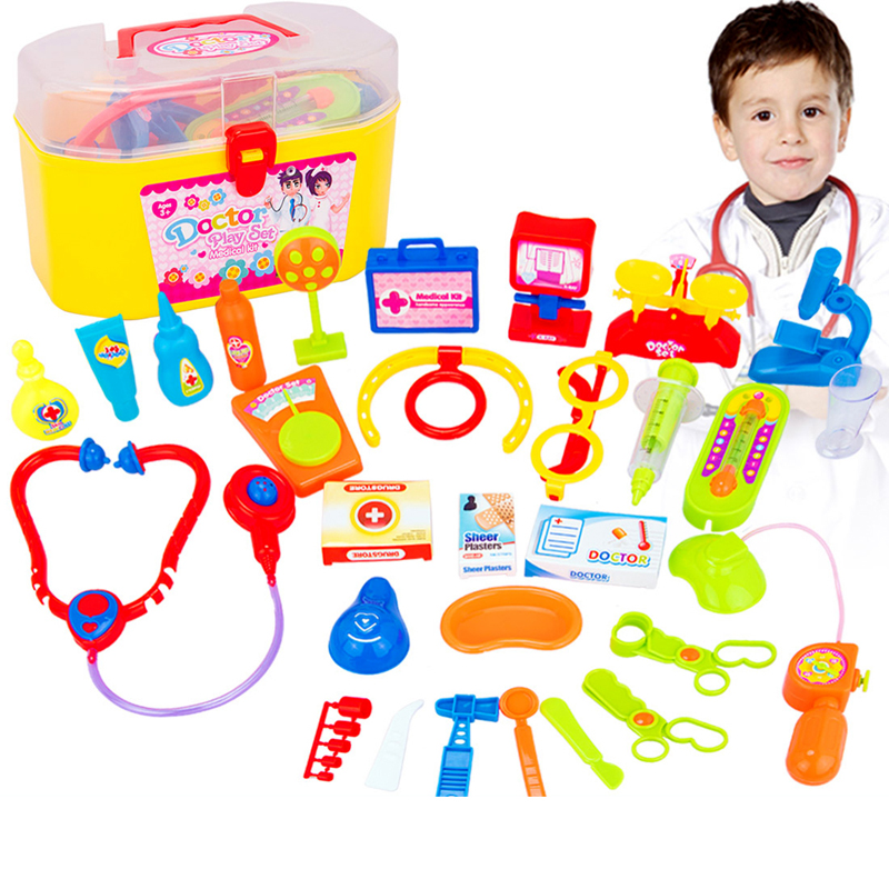 New Baby toys Doctor Play sets Simulation Medicine Box Doctor Toys Stethoscope Injections Children gifts free shipping(China (Mainland))