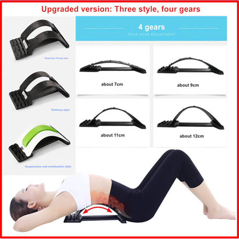 4 gear Back Massage Magic Stretcher Fitness Equipment Stretch Relax Mate Stretcher Lumbar Support Spine Pain Relief Chiropractic(China (Mainland))