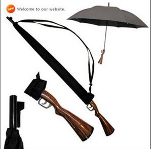 Novelty Item 8K Black Lifelike Rifle / Gun Umbrellas For Men(China (Mainland))