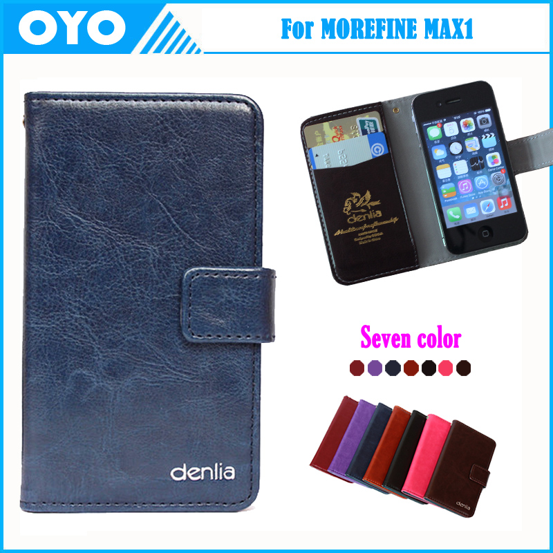 Factory Price! 2016 MOREFINE MAX1 Case 7 Colors Genuine Leather Exclusive For BLU MOREFINE MAX1 Phone Cover+Tracking