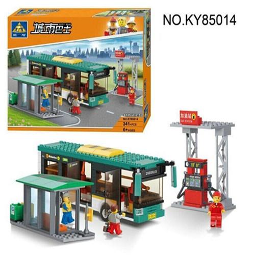 KAZI 341pcs Building Bricks Blocks Sets City Series Luxury Bus Tour Enlighten Educational children toys Compatible with legoe(China (Mainland))