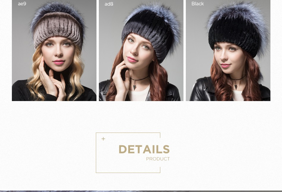 fur hat female winter PCM006 (5)
