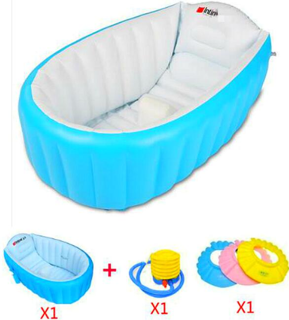 Baby Tub Portable Children Inflatable Tub 0-3 Year Kids Thickening Bath Tub Kids Wash bowl Folding Baby Tub Baby Swimming Pool(China (Mainland))