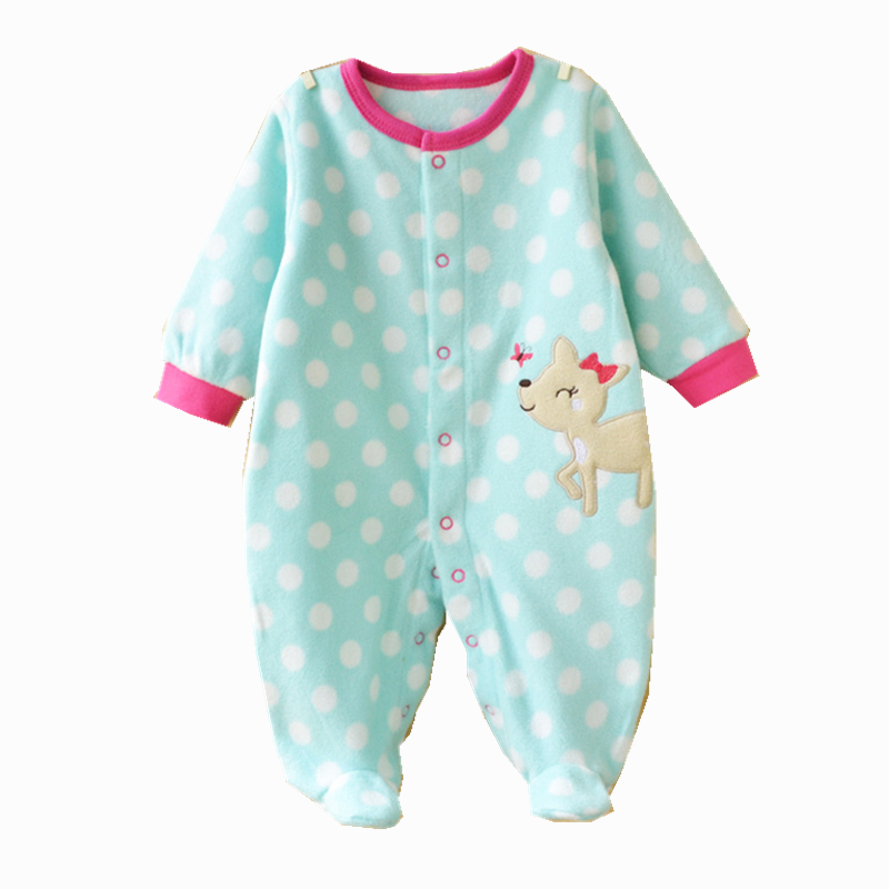 Newborn Baby Rompers Fleece Carters Baby Girl Jumpsuits
