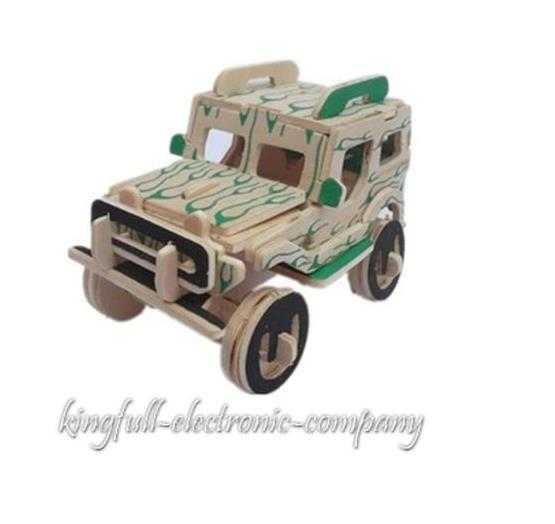 Wooden DIY Manual Assembly 3D building Puzzle Model Children's Educational Toys(China (Mainland))
