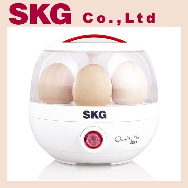 SKG Brand New 5 Eggs Cooker Boiler Steamer Home Machine & Micro-computer Control Egg Boiler  Home Appliance Free Shipping