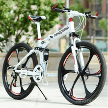 Free Shipping 26 Inch 24 Speed Folding Mountain Bike Bicycle downhill Road Bike With Double Disc Brake For Russia