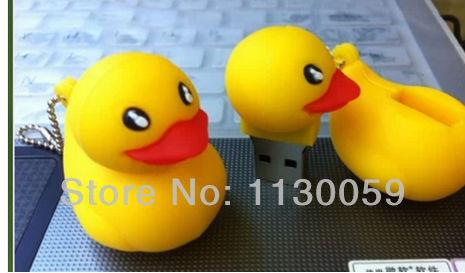 5pcs/a lot bulk cheapest price usb flash Drive Card Memory yellow duck 4GB 16GB 8GB /pen / car/flash drive S250(China (Mainland))