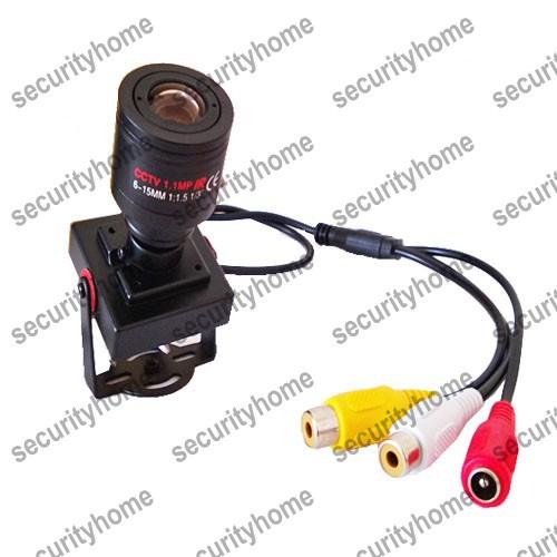 6-15mm Manual CCTV Lens Sony Effio-E 700TVL security camera Audio Mini CCTV camera MIC(China (Mainland))