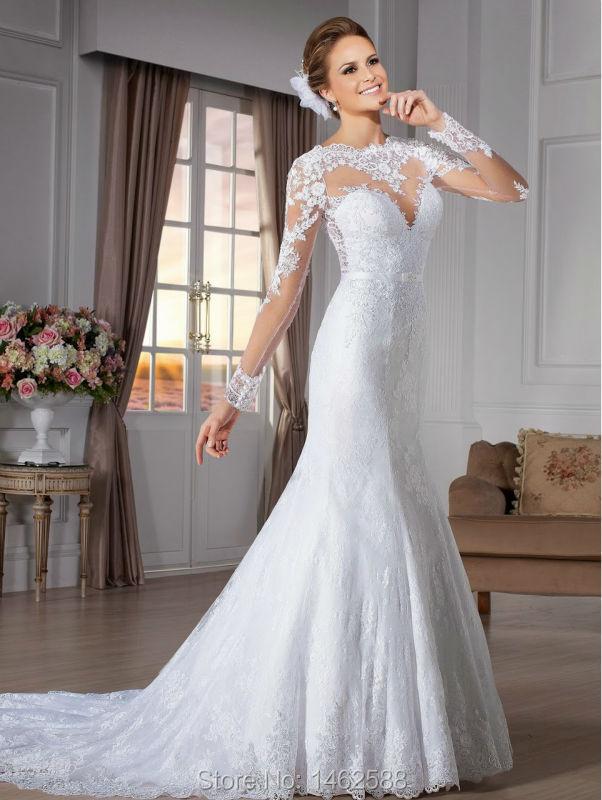 Plus Size Long Sleeve Mermaid Wedding Dresses : Mermaid wedding dresses long sleeves luxury hotels