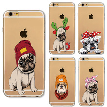Buy Cartoon Cute Puppy Lion French Bulldog Design Cases iphone 6 6S 7 Samsung Galaxy A3 A5 2016 Xiaomi Redmi Hongmi 3S Soft Case for $1.29 in AliExpress store