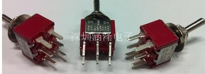 25 PCS LOT free shipping MTS-203 fillet red button toggle switch<br><br>Aliexpress