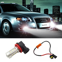 Buy BOAOSI 1x H11 H8 Car LED Lights Bulb Auto Fog Light Lamps No Error For Audi A3 A4 A5 A6 Q5 Q7 S5 TT Car Styling for $8.70 in AliExpress store