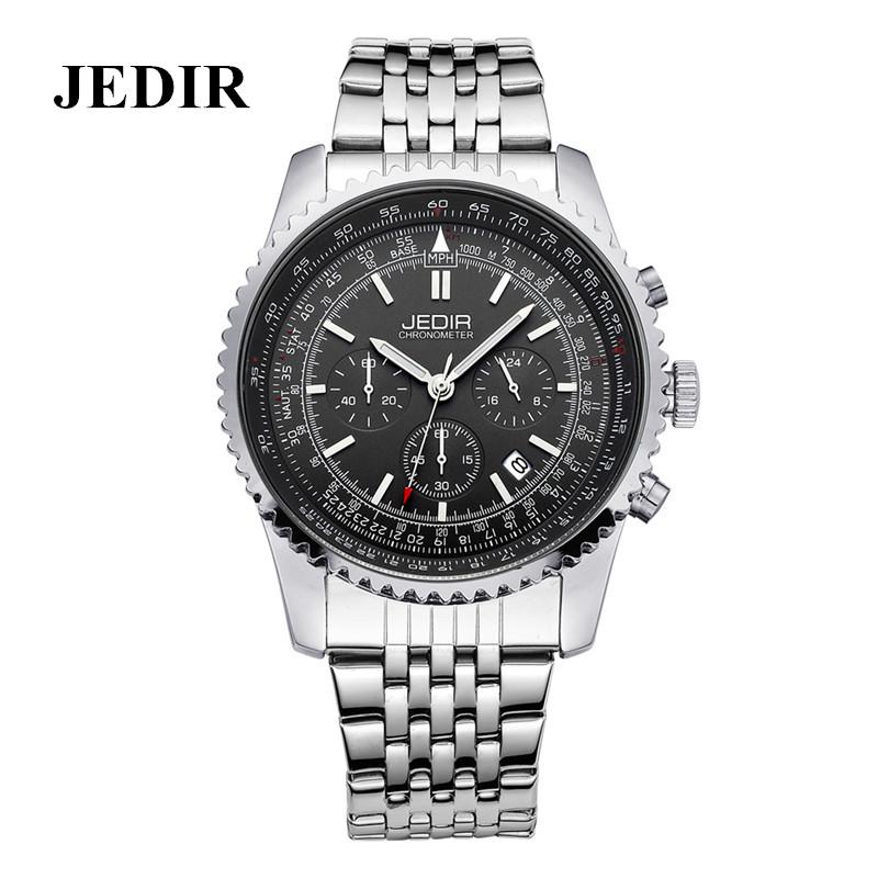 JEDIR Luxury Men's Business Watch Full Steel Quartz Wrist Watches 30M Waterproof Reloj Multifunction 24 hours date display(China (Mainland))