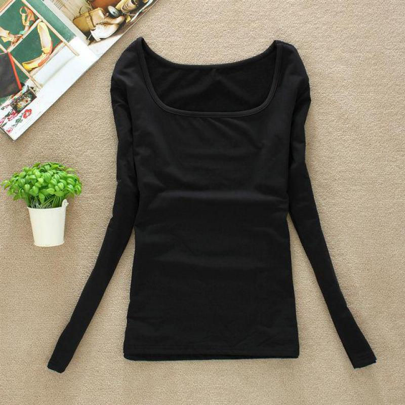 Woman Tops And T Shirts 2015 Long Sleeve U Neck Winter