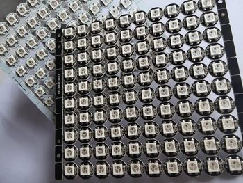 100x WS2812B LED With Heatsink (10mm*3mm) DC5V 5050 SMD RGB WS2811 IC Built-in