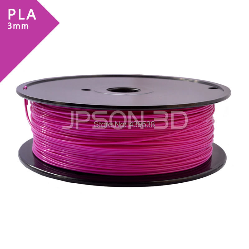 PLA 3 Purpl 3D Reprap /wanhao /makerbot pla filament 3 00mm 1kg 2 2lbs white color for 3d printer plastic reprap wanhao makerbot free shipping