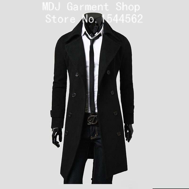 Мужской тренч MDJ m/3xl CoatsTrench Jaqueta 0017