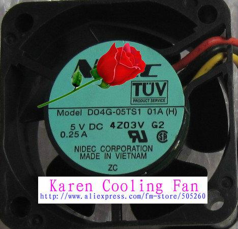 4cm  D04G-05TS1 01AH 4020 5V 0.25A cooling fan<br><br>Aliexpress