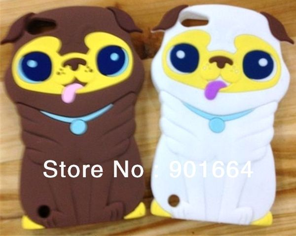 3D Cute Puppy Dog Doggy Silicone Back Case Cover Skin for ipod touch 5 5g 5th Generation,Free Shipping 10pcs/lot(China (Mainland))