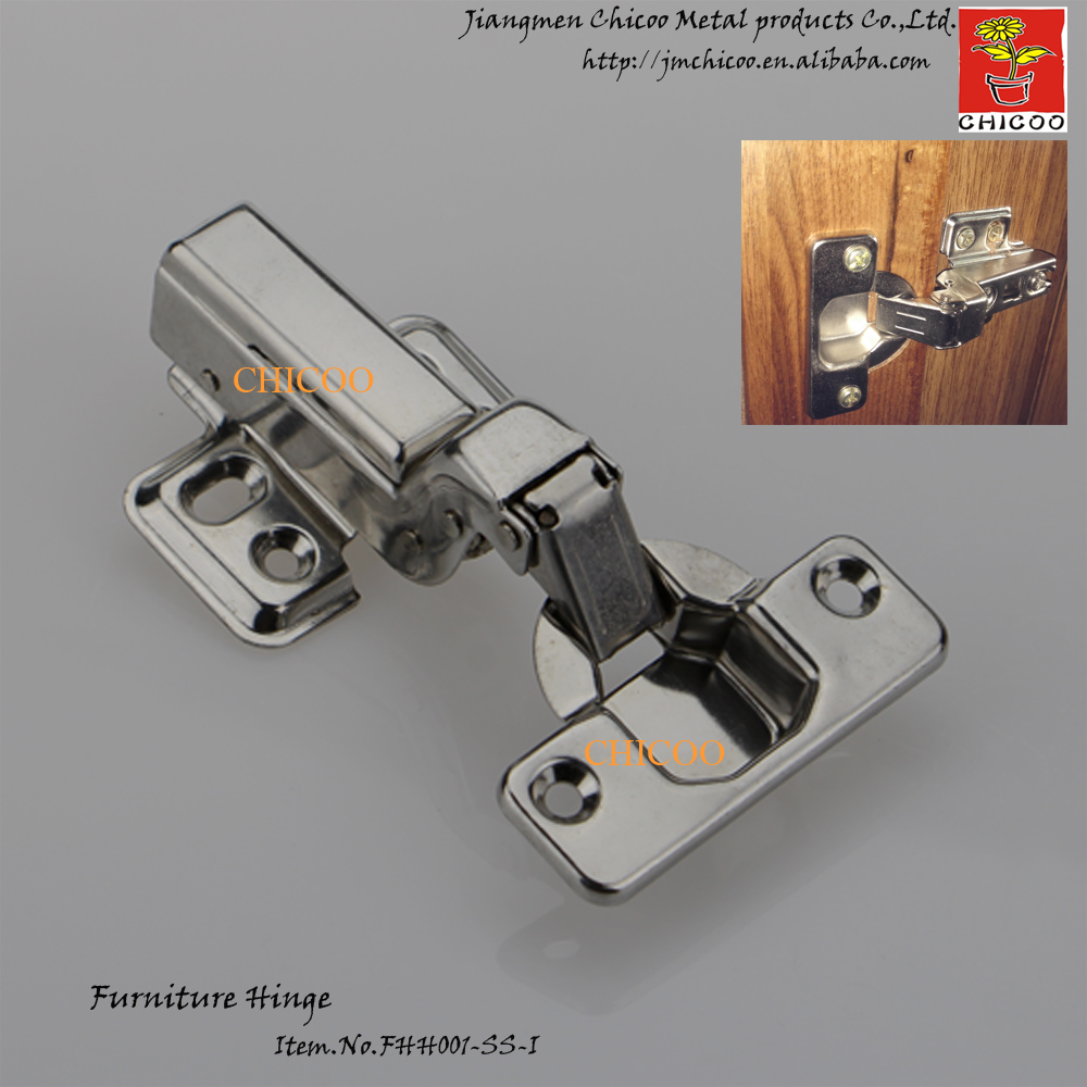 door Hinge Stainless steel 304 Embed Hydraulic furniture hinge conceal adjustable inset kitchen cabinet hinges(China (Mainland))