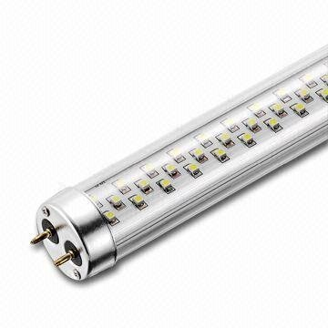 Transparent SMD LED T8 Tubes;90-240Vac input;900mm long;180pcs 3528 SMD LED;12W;750lm;DayLight(6000-7000K)