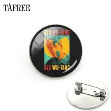 TAFREE Music Band WU TANG CLAN Spilla Spille Per Le Donne Degli Uomini di Nuovo Modo Spille Spilli Giacca di Jeans Collare Distintivo Jewlry WT06(China)