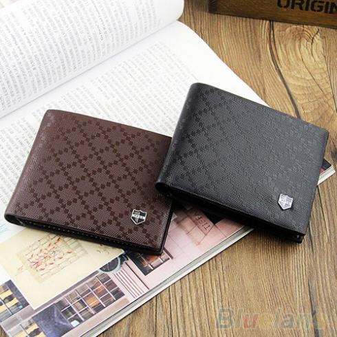 Fashion Men s Leather Wallet Pockets Card Clutch Cente Bifold Purse New 2 Colors 1T16