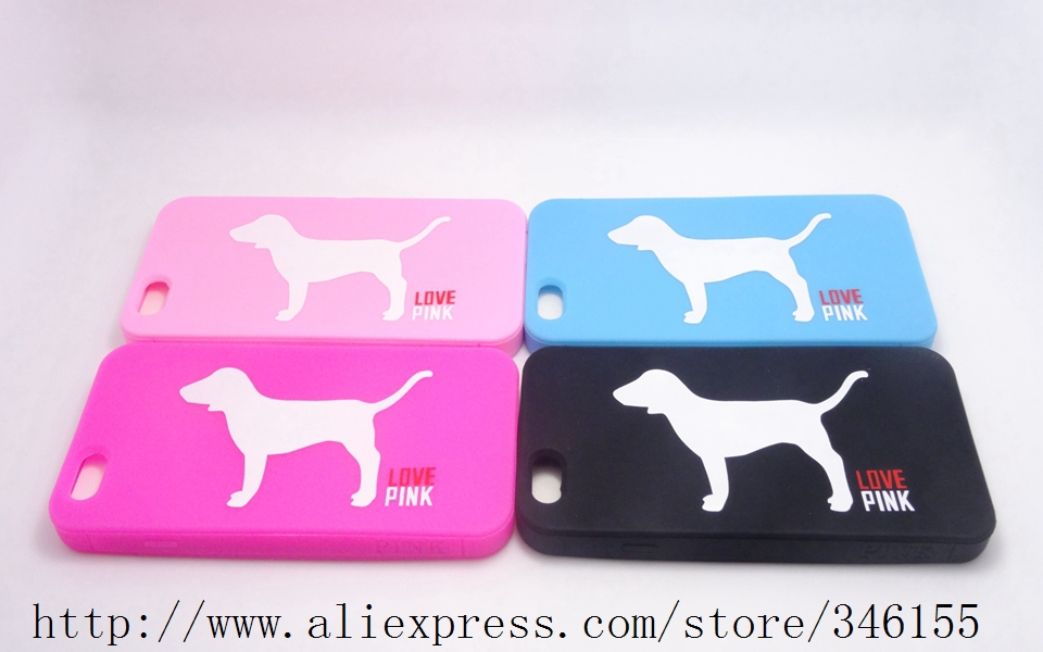 2015 Newest Victoria/'s Secret pink Love Dog Design Soft Rubber Case Apple iphone 6 4.7inch Luxe Silicone Phone Covers - Shen zhen HW (3C store Digital Accessories Company)