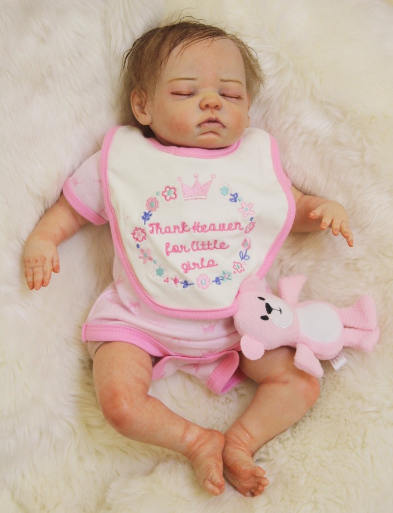 Boutique doll reborn 20″ handmade reborn infants fabric physique silicone child dolls greatest youngsters present assortment dolls bonecas
