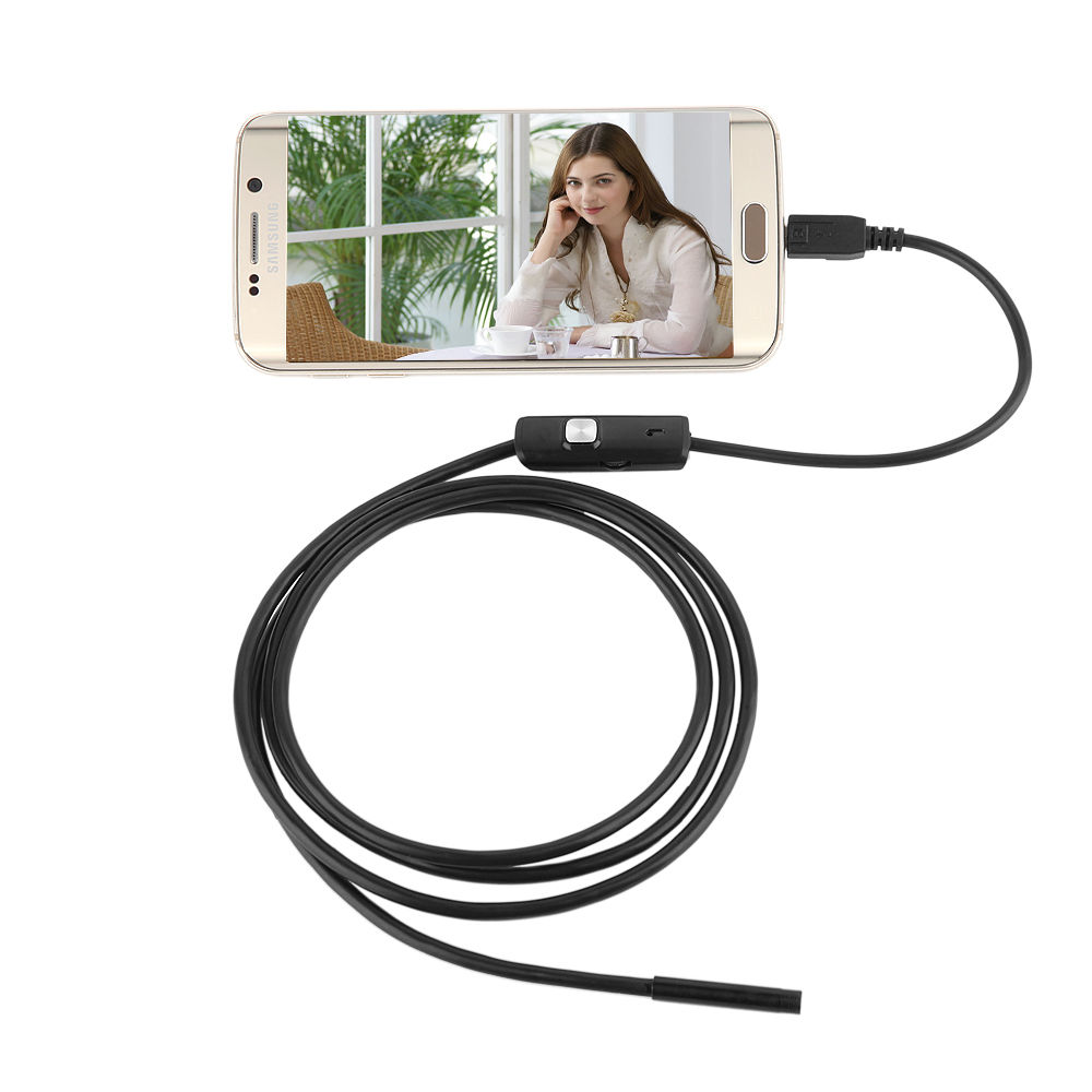 7mm 6 LEDs 720P USB Laptop Android Endoscope IP67 Waterproof Inspection With 1.5M Cable CD Driver Borescope Vedio Camera(China (Mainland))