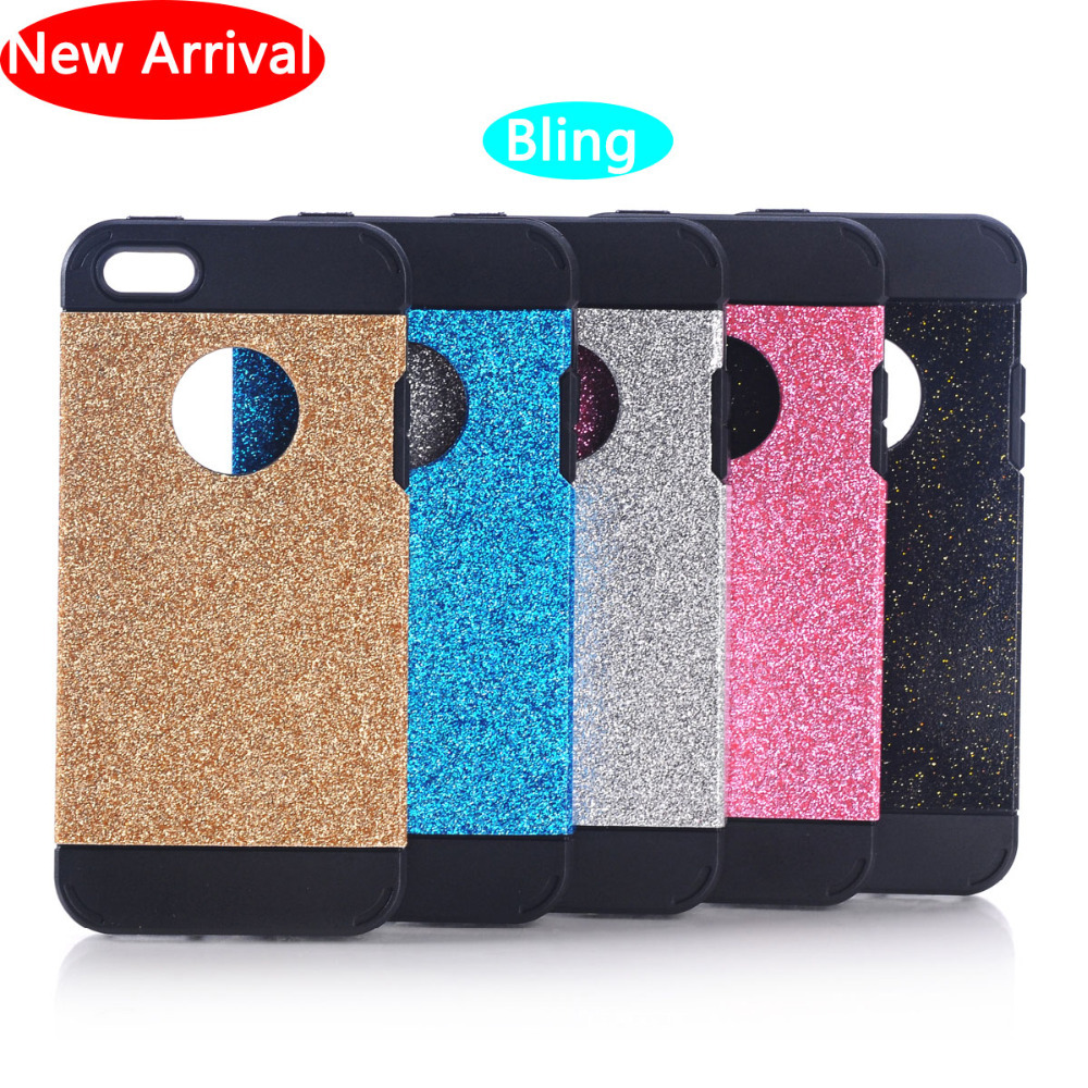 2015 Hot Luxury Diamonds Don't Fall Shimmering Powder Case for iPhone 5 5s 6 6plus Bling Logo Window Shinny Phone Case for 6plus(China (Mainland))