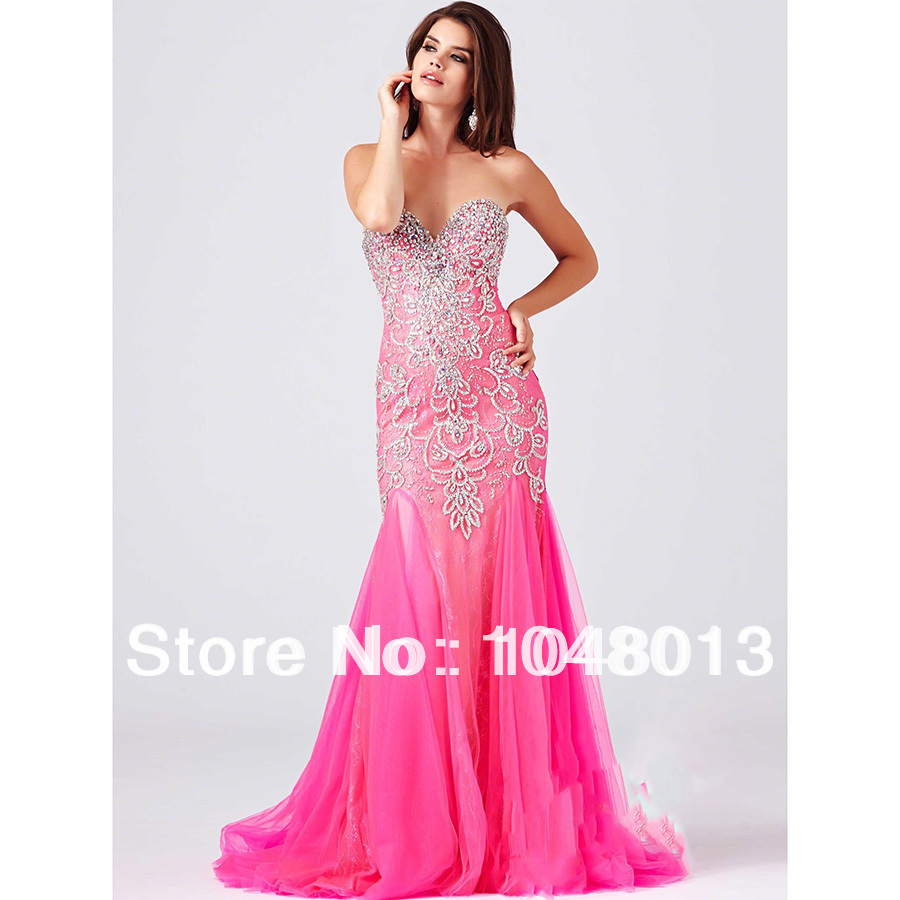 Rose Red Flapper Dresses Long Prom Dresses Formal Evening Dresses ...