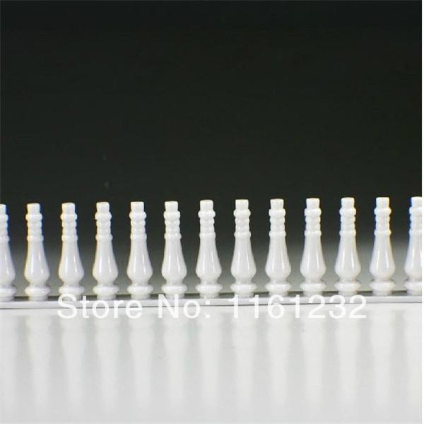 wholesale Plastic architectural guardrail model, abs plastic model railling for model making