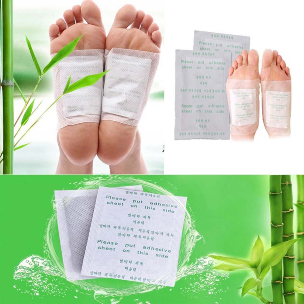 10 PCS GOLD Premium Kinoki Detox Foot Pads Organic Herbal Cleansing Patches(China (Mainland))