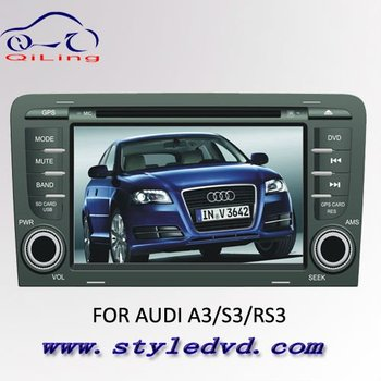 Free shipping 2 din 7 inch touch screen car dvd player for AUDI A3/S3/RS3 with gps