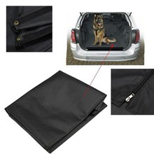 Black Universal Waterproof Car Boot protector liner Dog Pet floor Mat Cover Seat Large Size:98cm x 71cm x 35cm(China (Mainland))