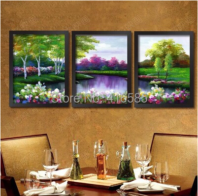 Framed wall Decoration Paintings Modern landscape living Room Art Painting Picture On Canvas home sunflower flowers mural(China (Mainland))
