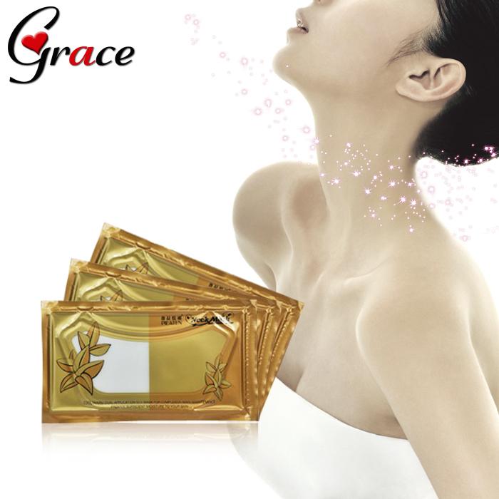 PILATEN Crystal Collagen neck mask 10packs/lot Women Anti-aging Anti-wrinkle Whitening moisturizing Hyaluronic mask neck care