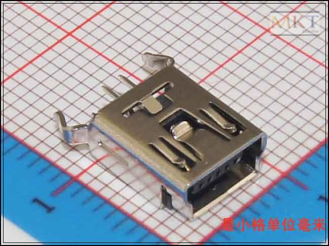 10Pcs 5 Pins Mini USB Through Hole Flat Female USB PCB Connector Socket, USB Jack Plug, Free shipping(China (Mainland))