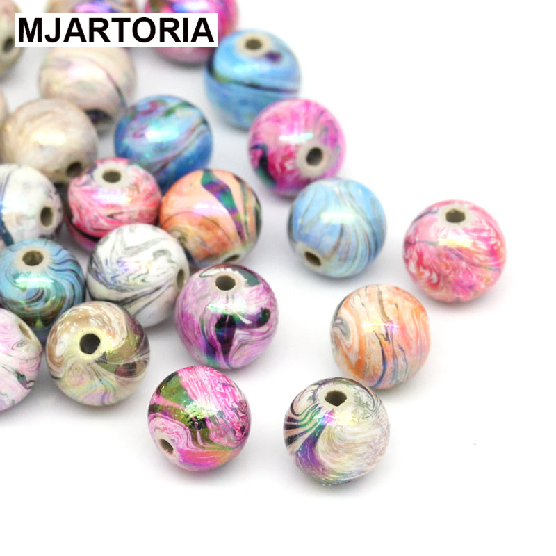 300PCs Random Mixed Acrylic Beads For Jewelry Making Colorful Ball Spacer Beads 8mm DIY Jewelry Findings Fit Bracelet Necklace(China (Mainland))