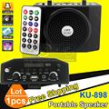 Portable Loudspeaker With Microphone Wireless USB Speaker Mini FM Radio MP3 Player For Sport Teaching Tour