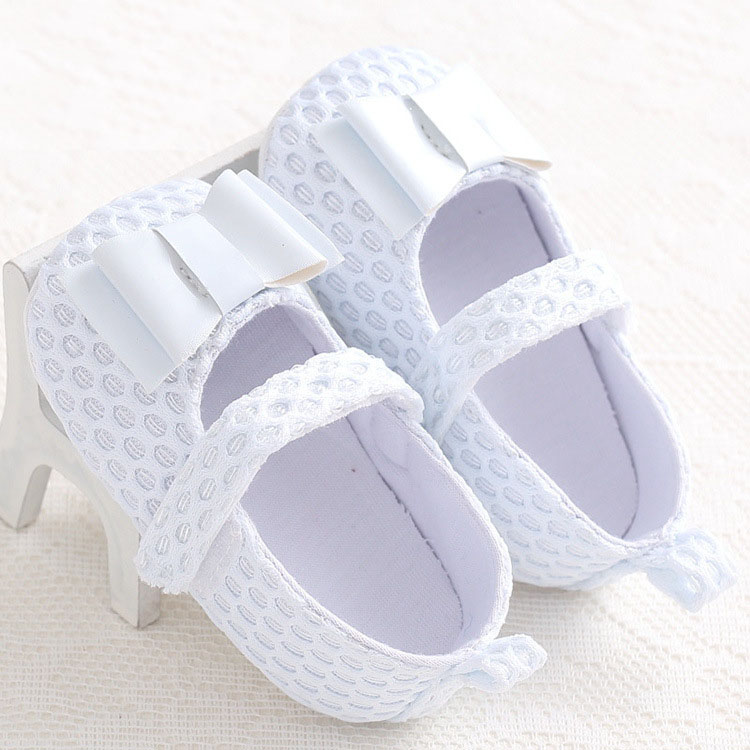 New bow solid soft soled baby toddler shoes multiple colour cute princess shoes for girl(China (Mainland))