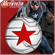 2016 Hot Selling Captain America necklace superhero vintage shield pendant logo jewelry  wholesale Necklace Pendant Freeshipping(China (Mainland))