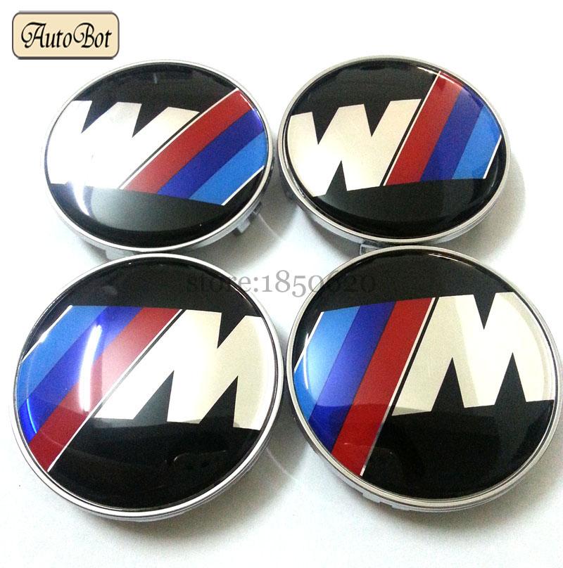 4pcs 68mm M power Wheel Center Sticker Wheel hub Cap Cover Decal Emblem Car styling Accessories For BMW Logo E36 E39 E60 E90 M3(China (Mainland))