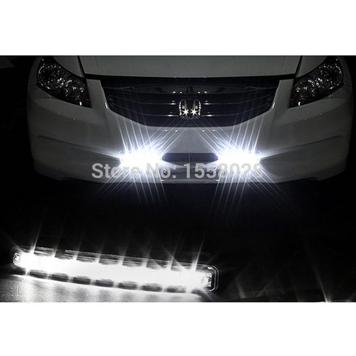 2pcs Lot Super White 8 Led Daytime Running Lights Drl Light Bar Parking Car Fog Lights Strobe