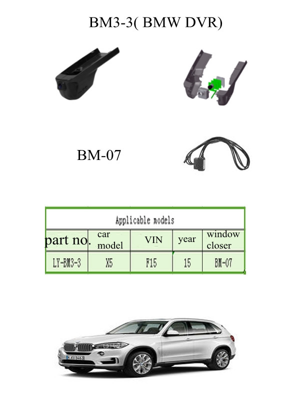 Special Car Camera For BMW X5 Hidden Cam Wifi DVR Motion Detection With Video Record Window Close Engine Flameout Warn Function